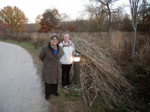 Ellen Mass and Casey Decareau after Phragmite removal